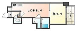 AVERE京阪本通[5階]の間取り
