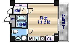 大阪府大阪市中央区西心斎橋1丁目の賃貸マンションの間取り