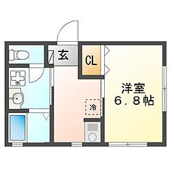 英荘[2階]の間取り