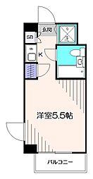 東京都小平市花小金井南町2の賃貸マンションの間取り