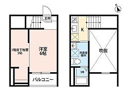 愛知県名古屋市熱田区千年1丁目の賃貸アパートの間取り