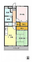 メルベーユ大倉山[303号室号室]の間取り