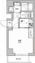 東京都港区東麻布2丁目の賃貸マンションの間取り