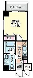 BLDG(ビルディング)110 2階1Kの間取り