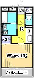 ラヴェニール国分寺[2階]の間取り