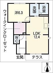 ポラリス C棟[1階]の間取り