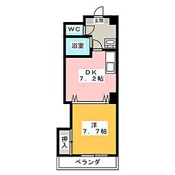 メゾンバリエ[3階]の間取り