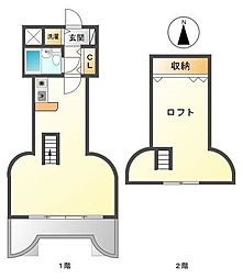 ホイットニー武庫川[4階]の間取り