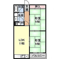 コーポ桜[102号室号室]の間取り
