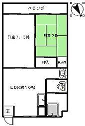 南流山京葉ハイツA棟[2階]の間取り
