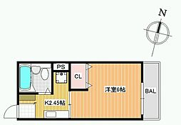 セルティアB棟[2階]の間取り
