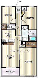 ガーデンホーム早稲田[303号室]の間取り