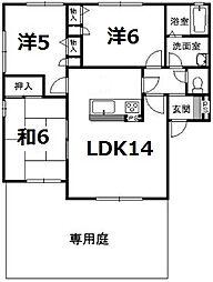 [タウンハウス] 福岡県福岡市中央区鳥飼3丁目 の賃貸【/】の間取り