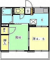パミールC[2階]の間取り
