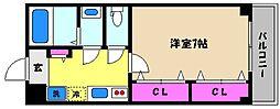 兵庫県芦屋市前田町の賃貸マンションの間取り