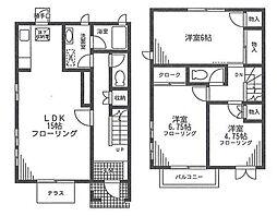 [テラスハウス] 神奈川県横浜市旭区さちが丘 の賃貸【/】の間取り