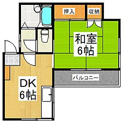 トーマコーポ1号棟[1階]の間取り