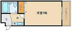 新栄プロパティ藤井寺[301号室]の間取り