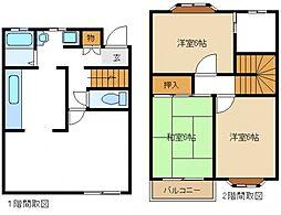 [タウンハウス] 東京都町田市南成瀬5丁目 の賃貸【/】の間取り