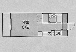 ジェイラム横濱[4階]の間取り