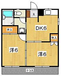 フローラルマンション[101号室号室]の間取り