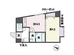 アソシアグロッツォ平尾[1階]の間取り