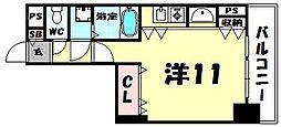 リーガル北心斎橋[304号室]の間取り