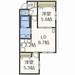Pine Residence N32[2階]の間取り