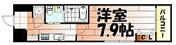 No.65 クロッシングタワーORIENT BLD.[601号室]の間取り