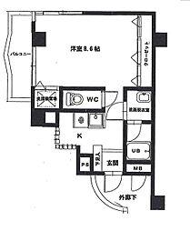 シャインプラザ[5階]の間取り