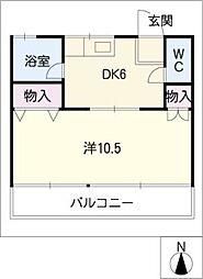 メゾン仲田[1階]の間取り