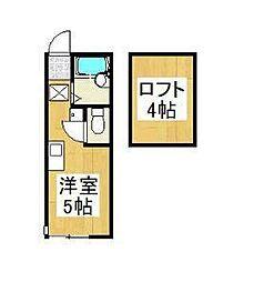モンステラ戸塚(モンステラトツカ)[1階]の間取り