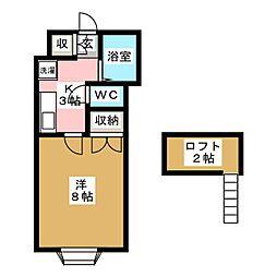 ホワイトキャッスル木ノ下薬師堂[2階]の間取り