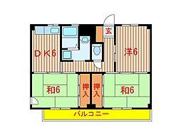 千葉県船橋市松が丘5丁目の賃貸マンションの間取り