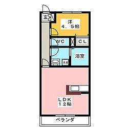 絆[1階]の間取り