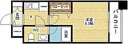 プラウドフラット新大阪[15階]の間取り