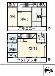 [一戸建] 三重県桑名市新西方3丁目 の賃貸【/】の間取り