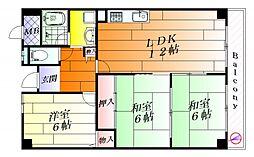 プライム21[3階]の間取り