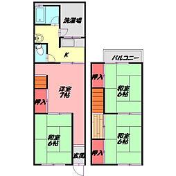 Osaka Metro谷町線 守口駅 徒歩13分の賃貸テラスハウス 1階4Kの間取り