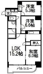 ターミナルプラザ36[9階]の間取り