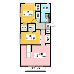 パルオン C[2階]の間取り