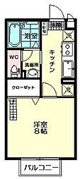 セジュールYOU[2階]の間取り