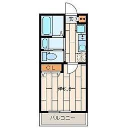 東京都江戸川区平井2丁目の賃貸アパートの間取り