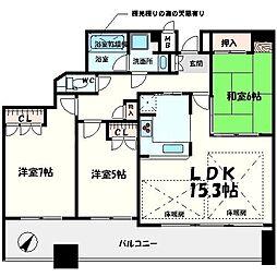 ステイツ桃山台レジデンス[2階]の間取り