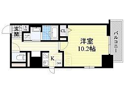 フレール江坂レジデンシャル[4階]の間取り