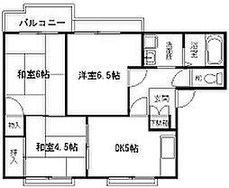 ハイツ浜澤[202号室]の間取り