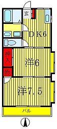 フヨウコーポ[2階]の間取り