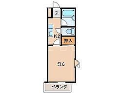 ハイツアネシス[2階]の間取り