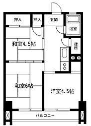 新原町田マンション[4階]の間取り
