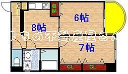 リトルハウス中央[7階]の間取り